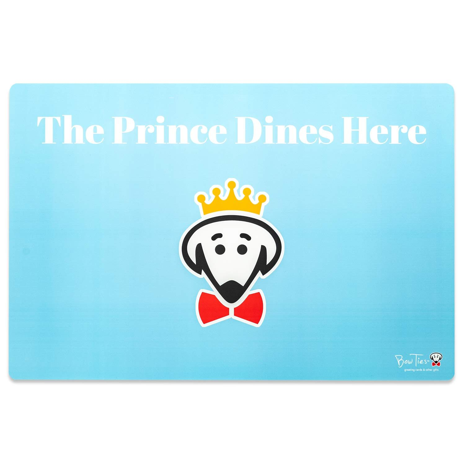 The Prince Dines Here pet mat by Beau Tyler