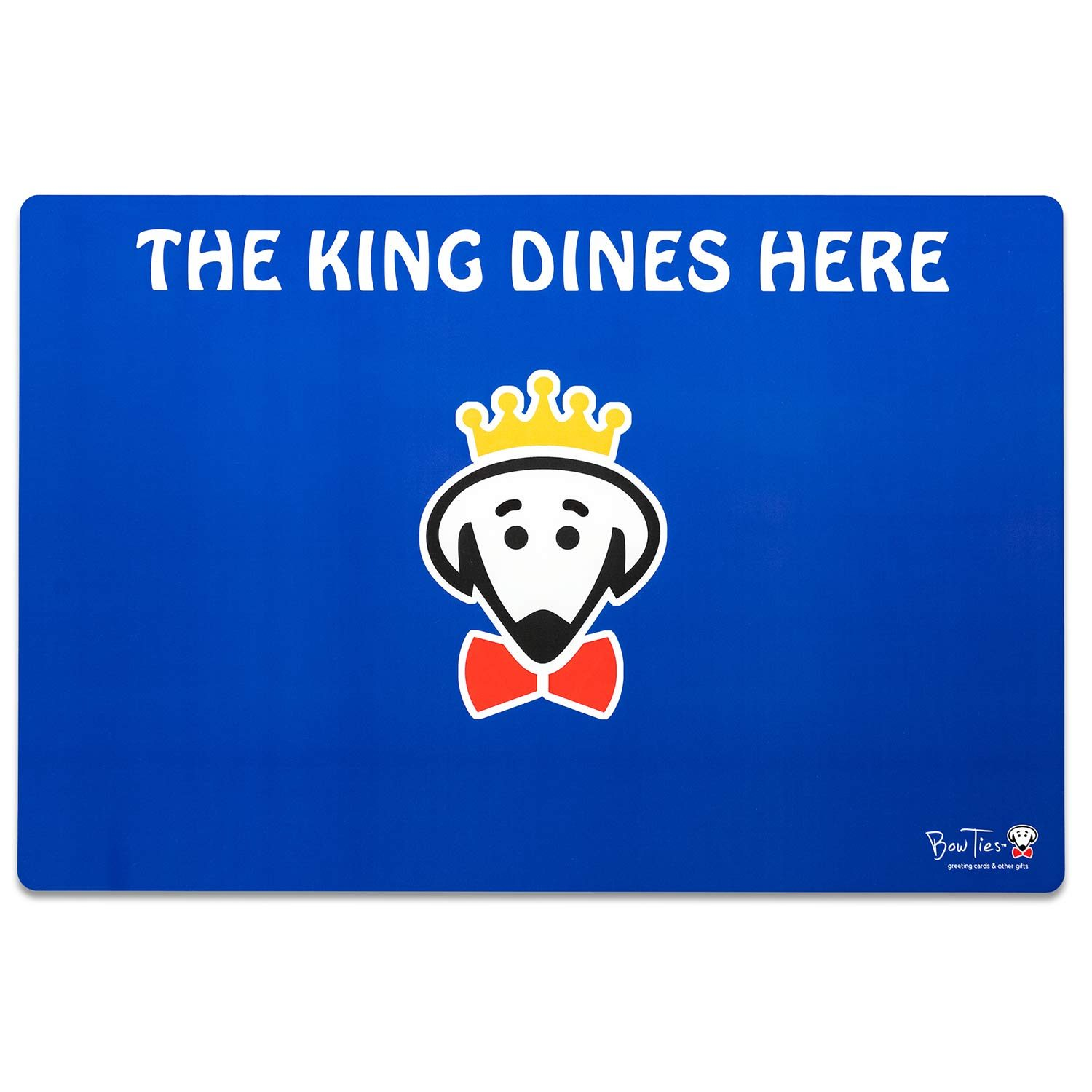 The King Dines Here pet mat by Beau Tyler