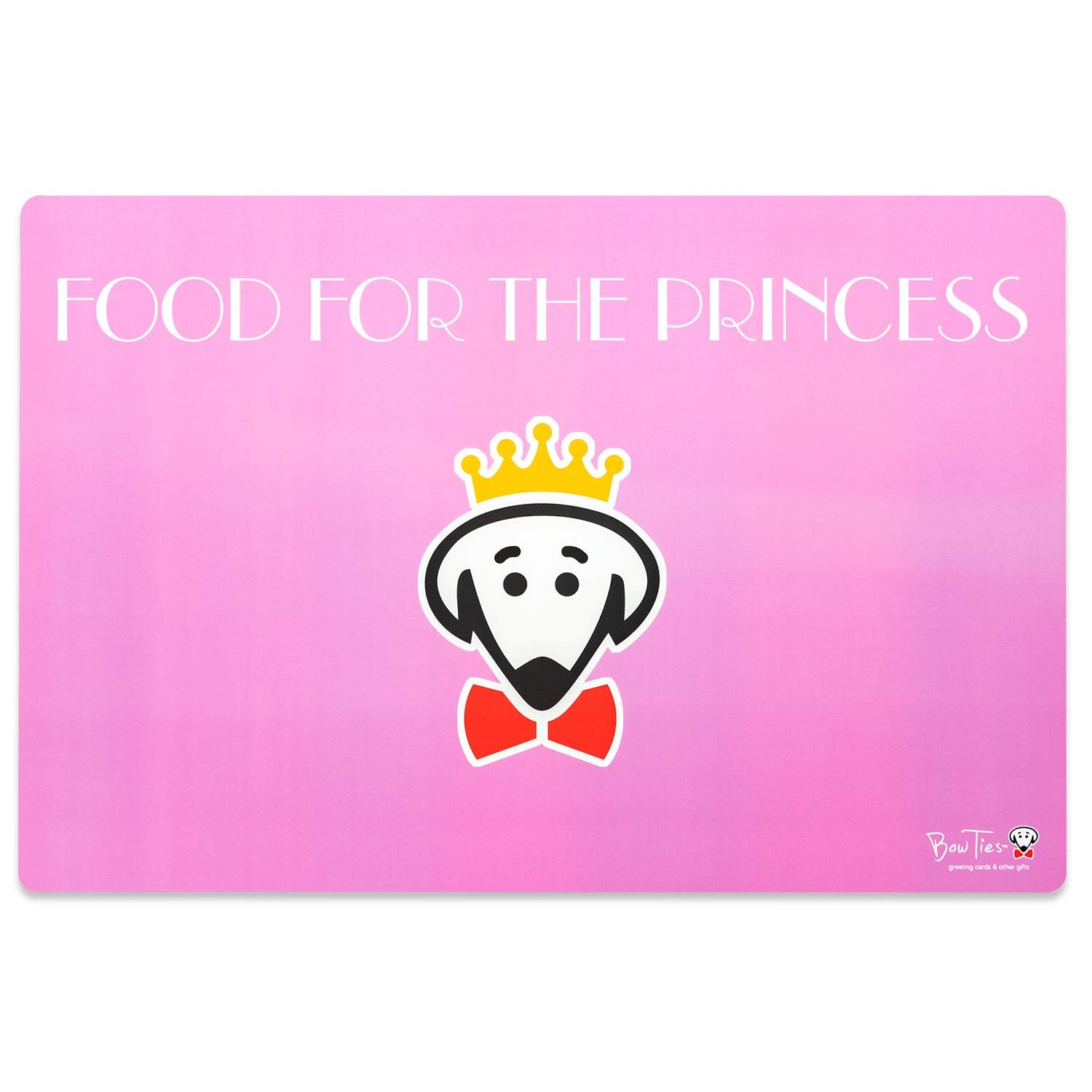The Princess Dines Here pet mat (Food for the Princess on back) by Beau Tyler