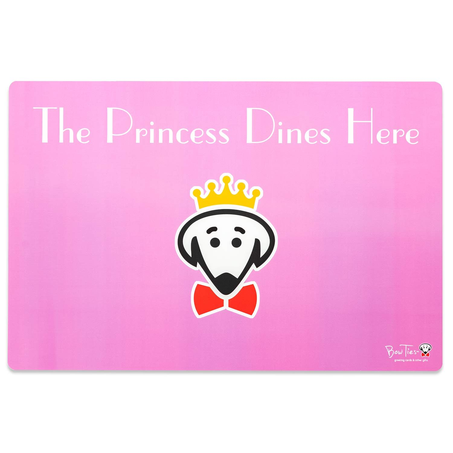 The Princess Dines Here pet mat by Beau Tyler