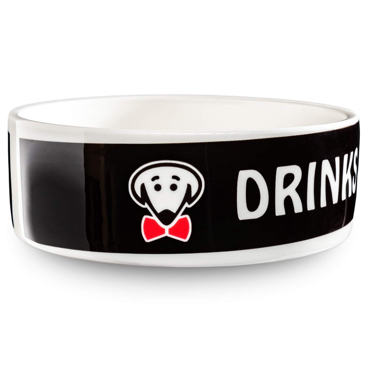 Drinks for the Boss pet bowl in black by Beau Tyler