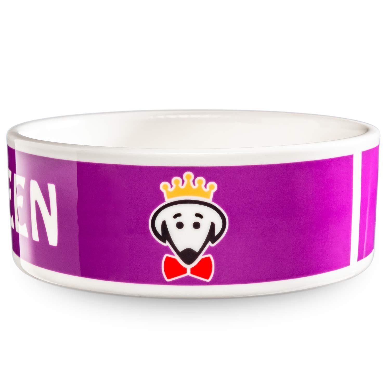 Royal Pet Bowl (Queen) in purple by Beau Tyler