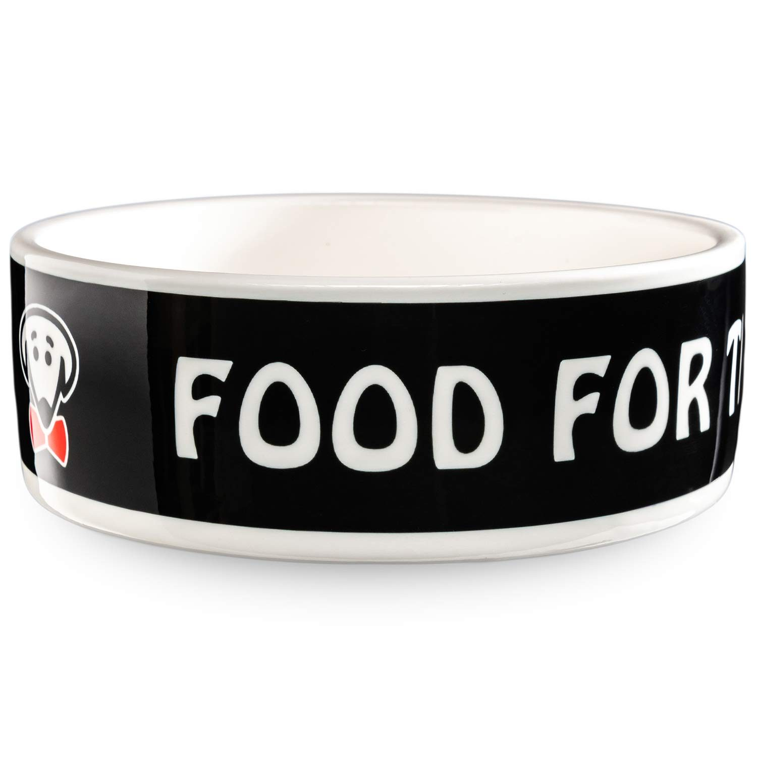 Food for the Boss pet bowl in black by Beau Tyler