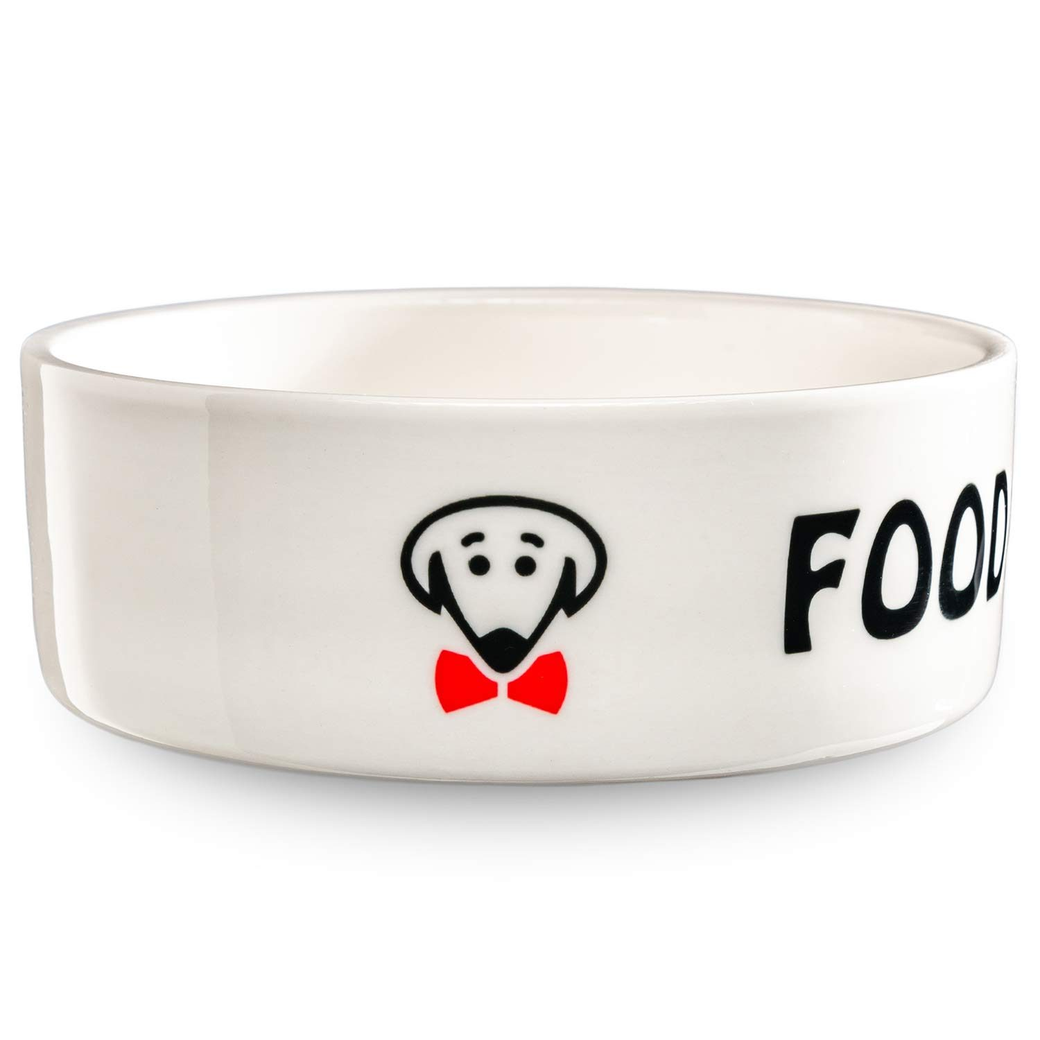 Food for the Boss pet bowl in white by Beau Tyler