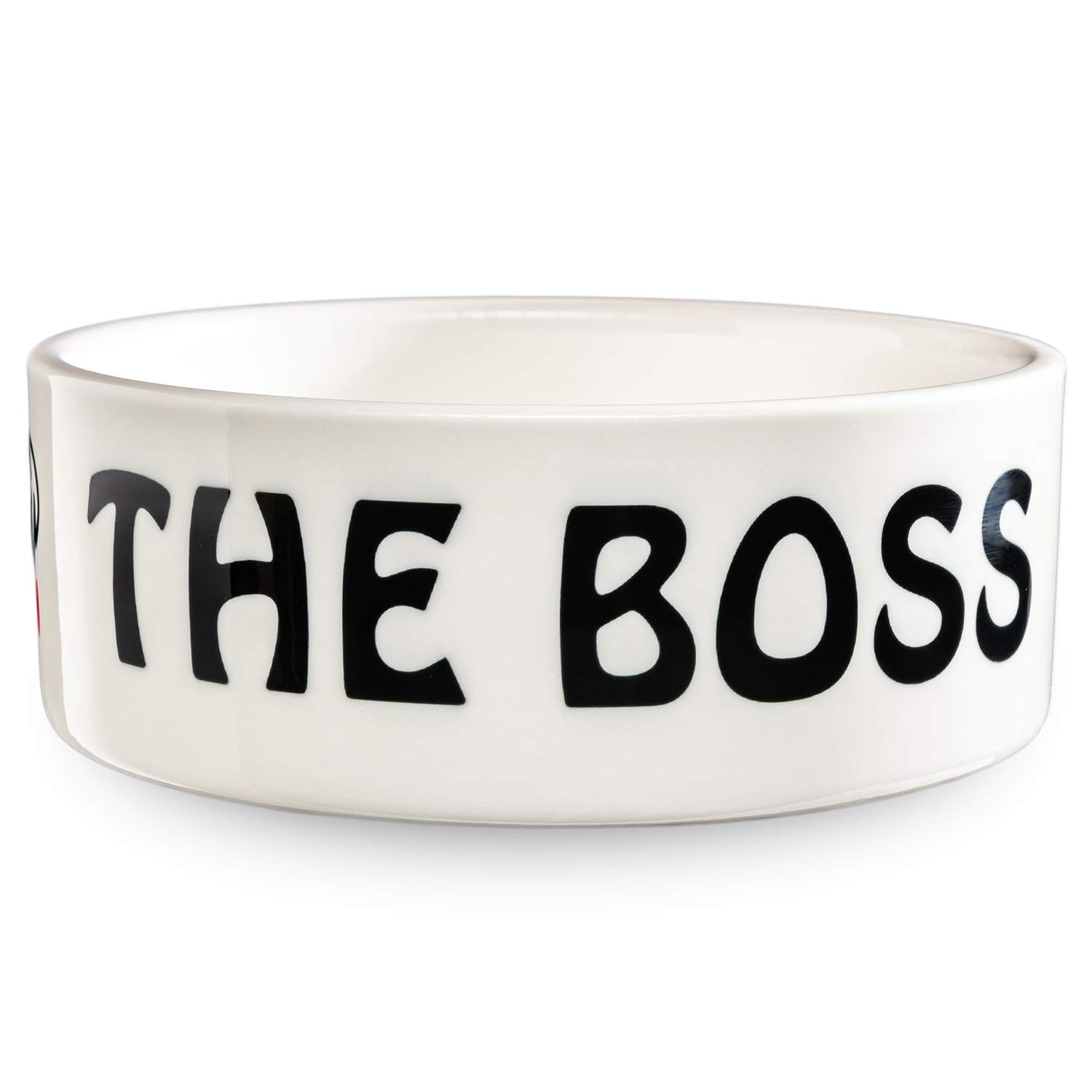 The Boss pet bowl in white by Beau Tyler